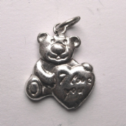 Sterling Silver 'I love you' Teddy bear with heart charm